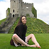 barefoot at Cardiff Castle