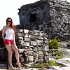 Barefoot at Tulum Ruins